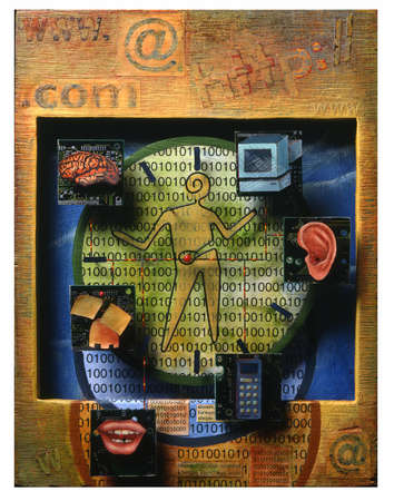 Technology and communication collage