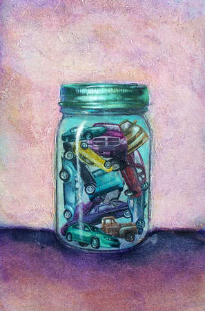 Cars in jar