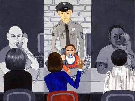Baby boy in jail