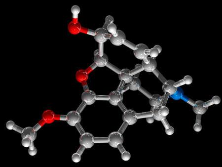 Codeine, C18H21NO3, opiate with analgesic,