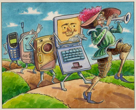 Anthropomorphic wireless devices following pied piper
