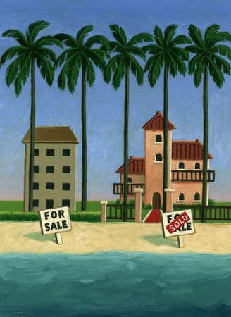 Houses for sale on beach