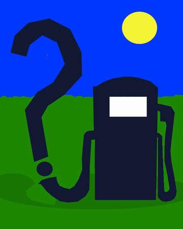 Gas pump hose forming question mark