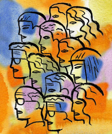 Profiles of people in group