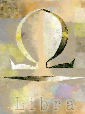 Illustration of Libra symbol