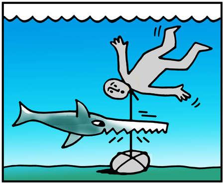 Swordfish saving drowning man