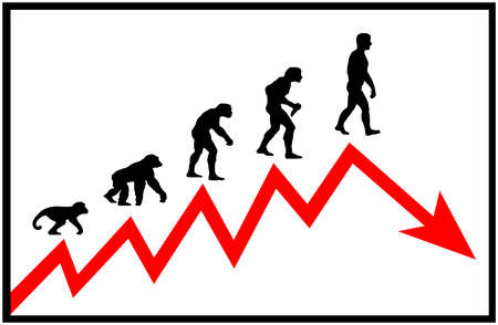 Evolving man and growth chart