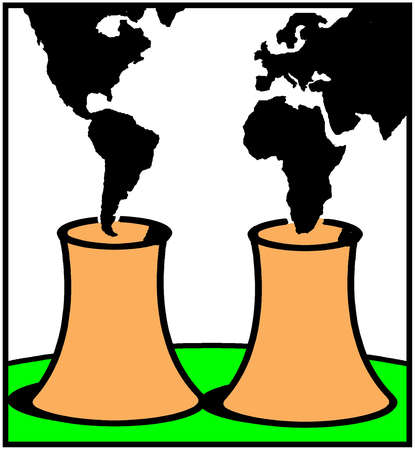 Nuclear power plants spewing continental smoke