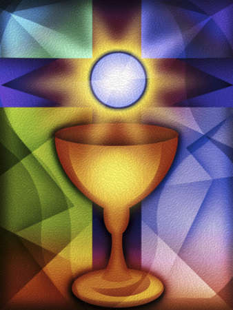 Communion cup and cross