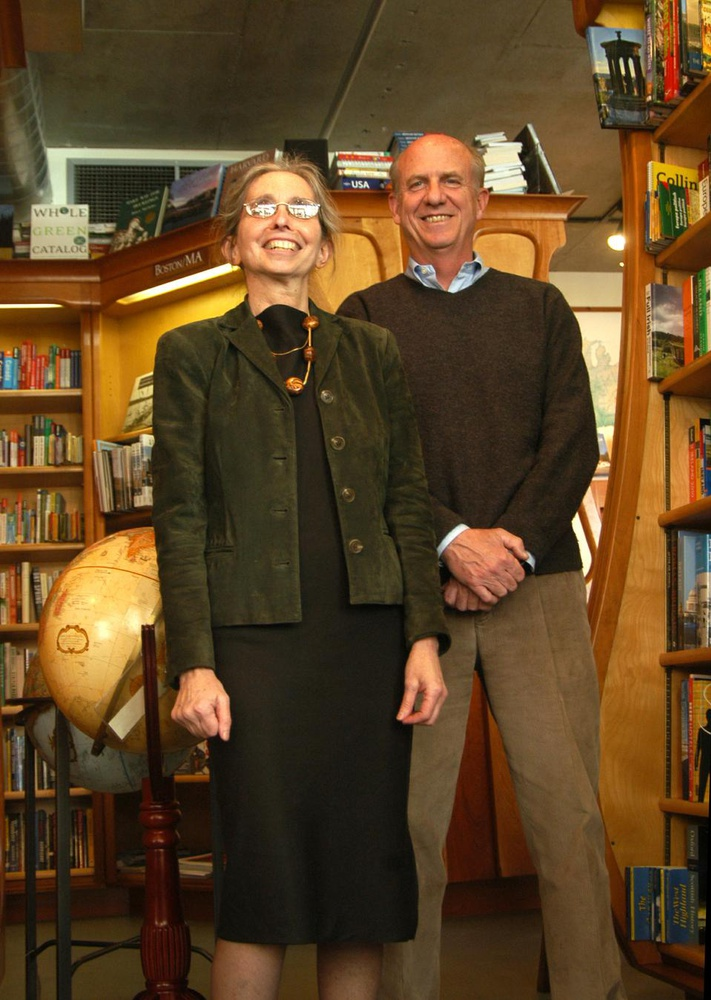 Patrick and Harriet Carrier, owners of The Globe Corner Bookstores.