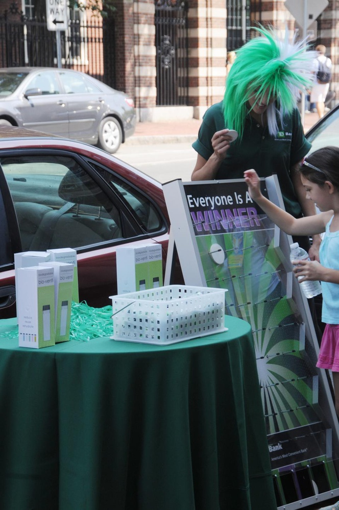 TD Bank is celebrating their grand opening all week in the Massachusetts Avenue space formerly occupied by Adidas with games and free water bottle giveaways.