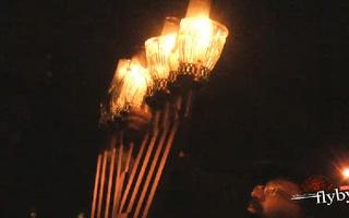 President Faust Lights the Menorah