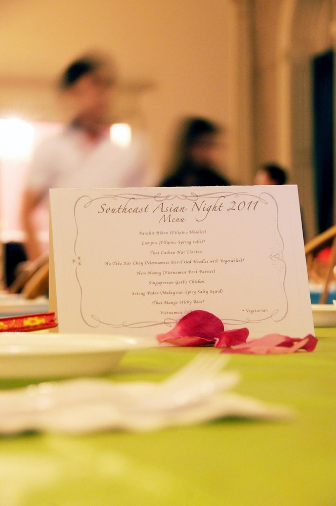 The South East Asian Coalition supplemented the seven cultural performances with an eight-course meal served in the Leverett Dining Hall.