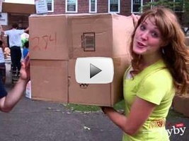 Students Break Box Fort World Record