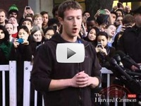 Mark Zuckerberg Visits Harvard