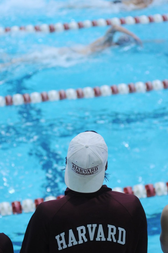 The Crimson's men's swimming & diving team faced off against Texas A&M, Cornell, and Dartmouth this weekend at Blodgett Pool. Harvard opens the season having won 10 straight dual meets dating back to the 2009-10 season.