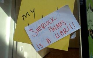 Sherlock Holmes Is A Liar