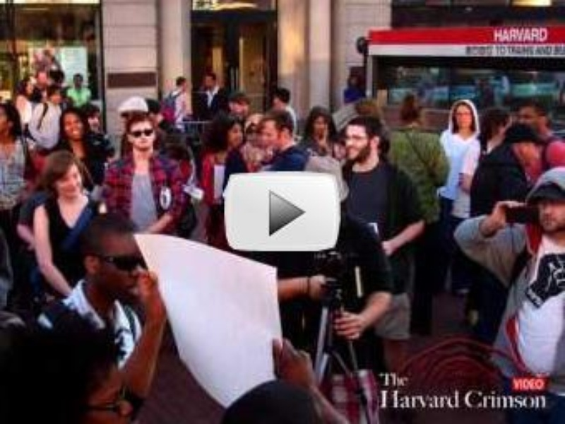 Harvard Students Rally on Behalf of Trayvon Martin