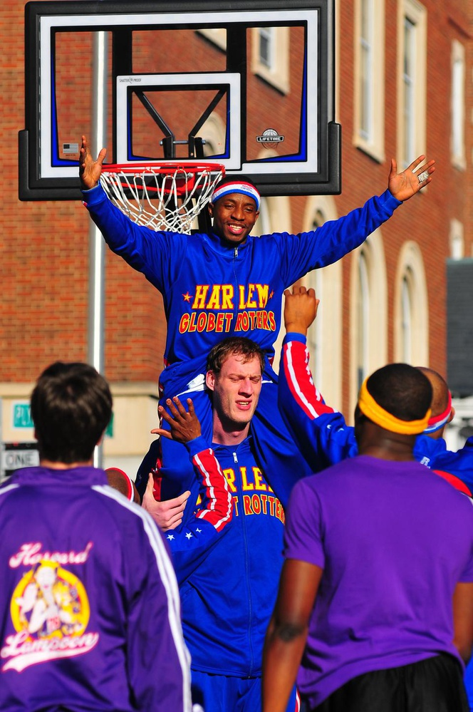 The Harlem Globetrotters faced the Lampoon, a semi-secret Sorrento Square social organization that used to occasionally publish a so-called humor magazine.