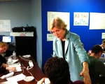 Elizabeth Warren Visits Staff
