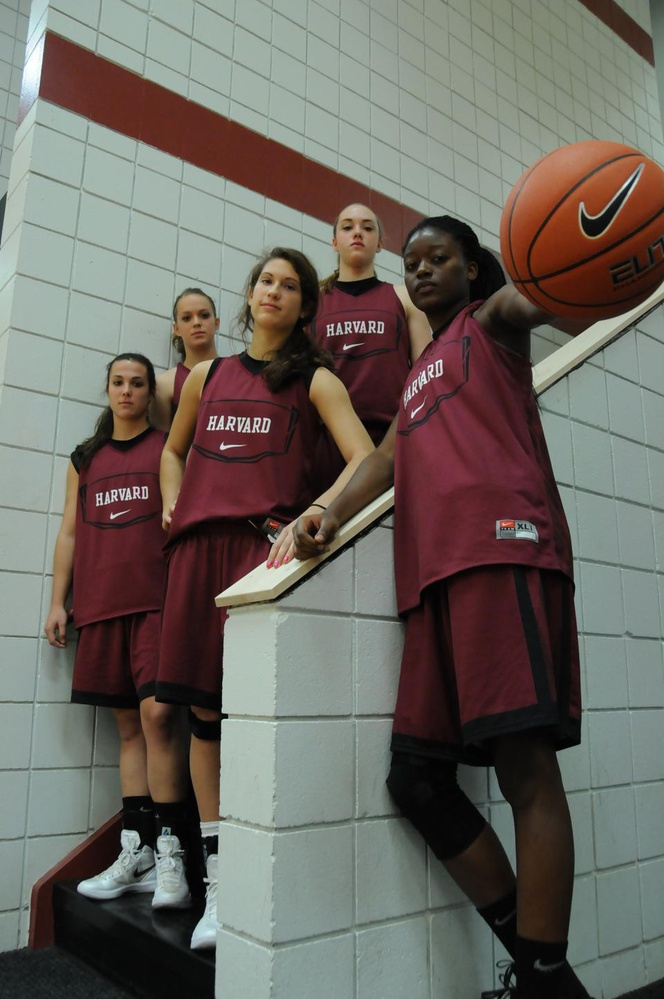 Rising sophomore Temi Fagbenle (far right) is the youngest of 12 players on Great Britain's Olympic women's basketball team.