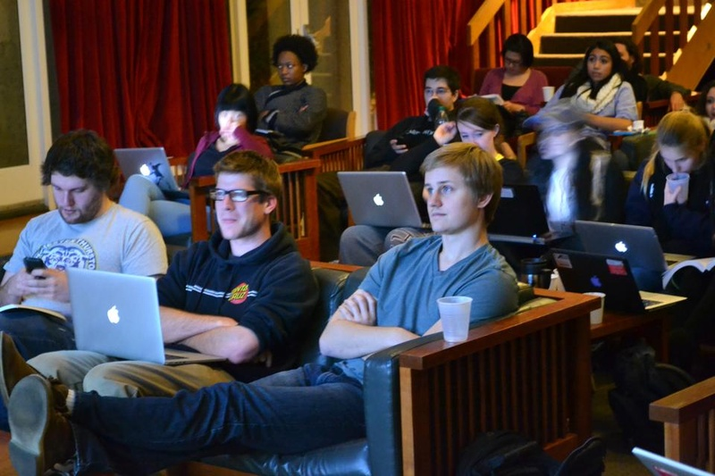 Students Watch Live Election Results in their Houses