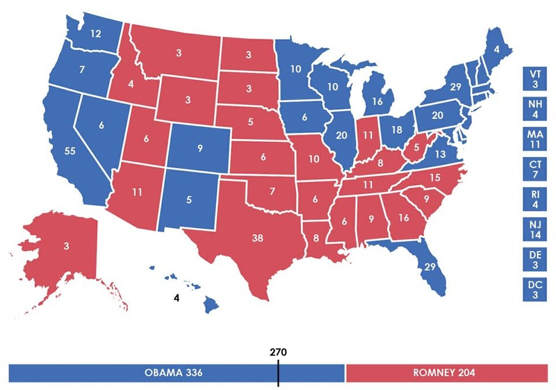 2012 Presidential Election Electoral Map