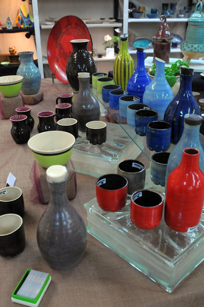Marlee Mincher's collection at the Harvard Ceramics Program's holiday sale.