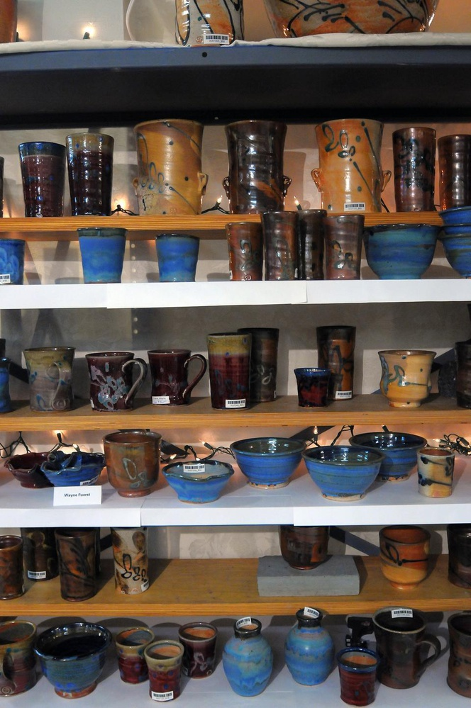 Wayne Fuerst's collection at the Harvard Ceramic Program's holiday sale.