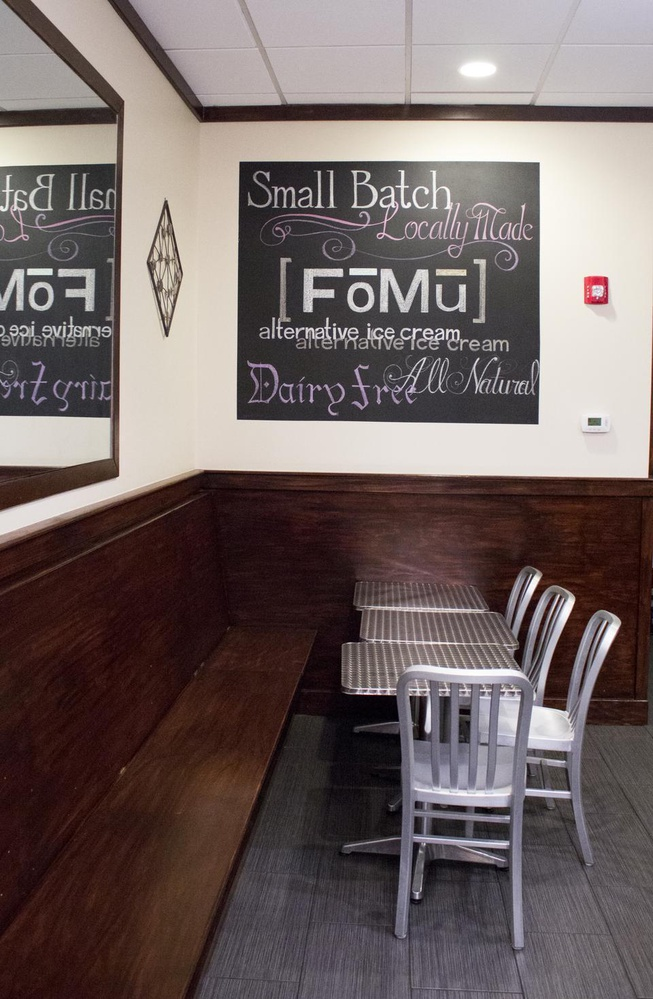 FoMu sells delicious vegan ice cream made with either coconut, almond, or cashew milk.