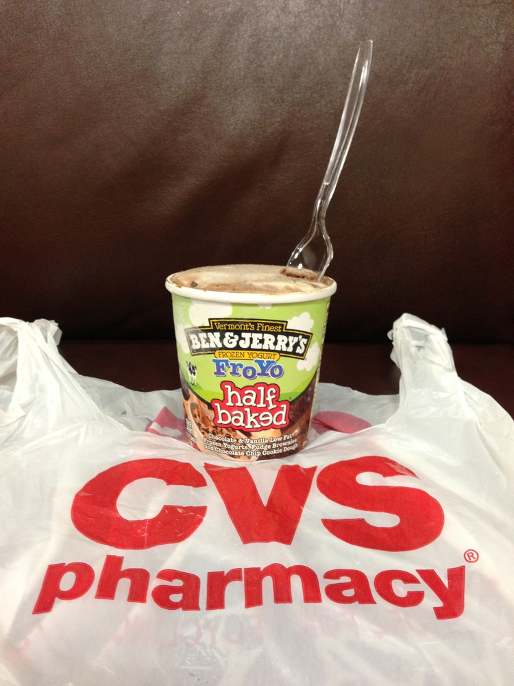 Looking for reasonably priced froyo at 3 a.m.? CVS offers Ben and Jerry's brand froyo for a mere $5.79 a pint.