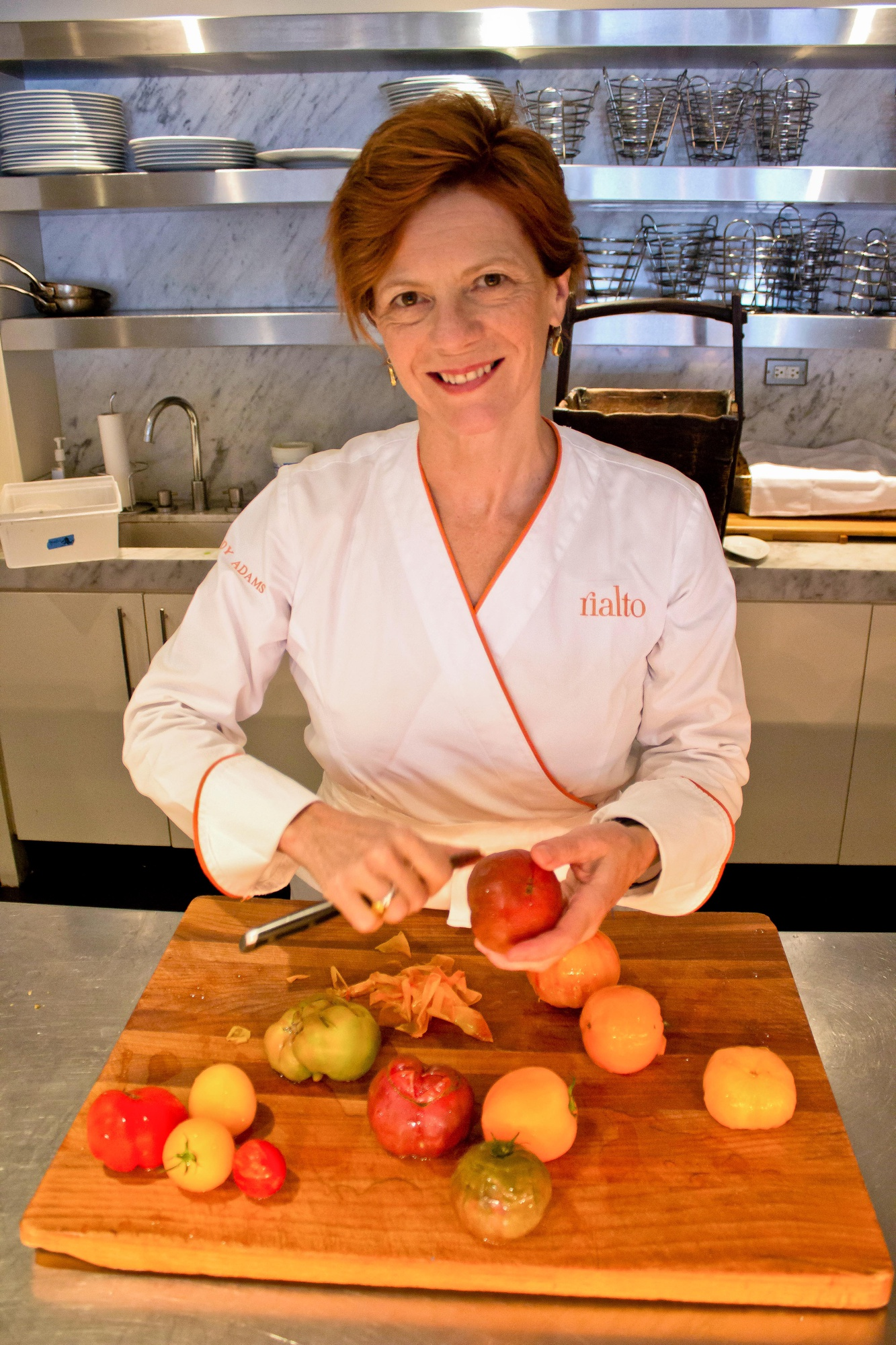 Chef Jody Adams owner and creator of Rialto, has won numerous accolades for her restaurant.