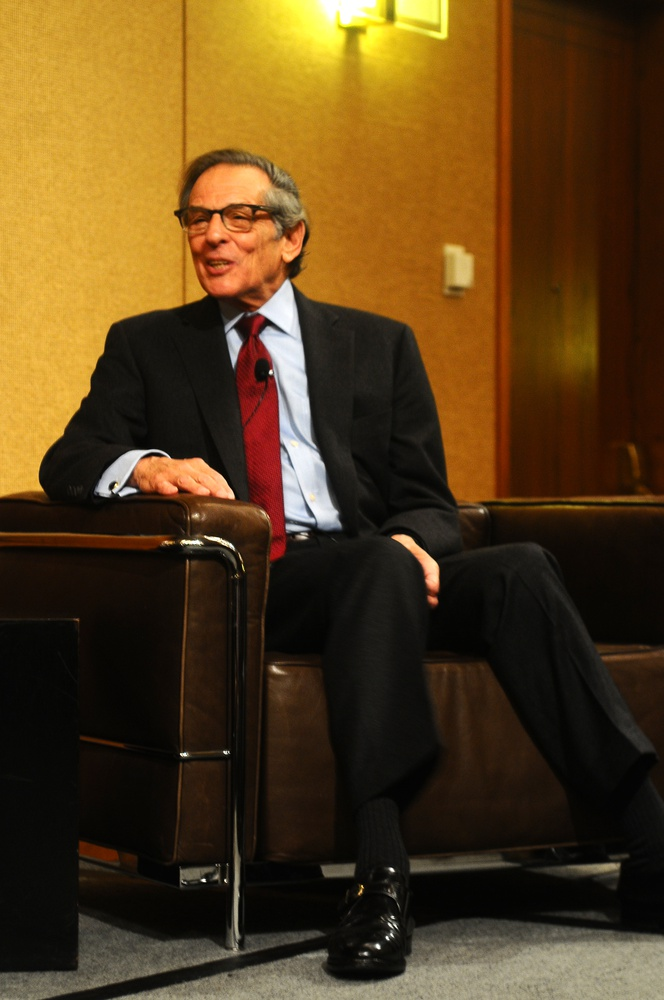 LBJ biographer Robert Caro, Nieman Fellow '66, shares anecdotes from his career in an interview with The Washington Post's Anne Hull, Nieman Fellow '95. The Nieman Foundation celebrated its 75th anniversary at The Charles Hotel on Saturday.