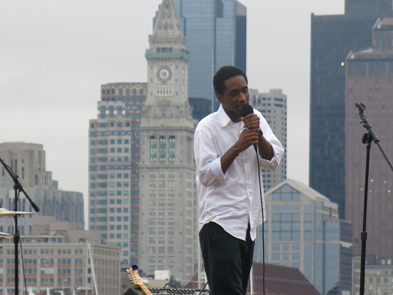 A ZUMIX participant performs at their summer concert.