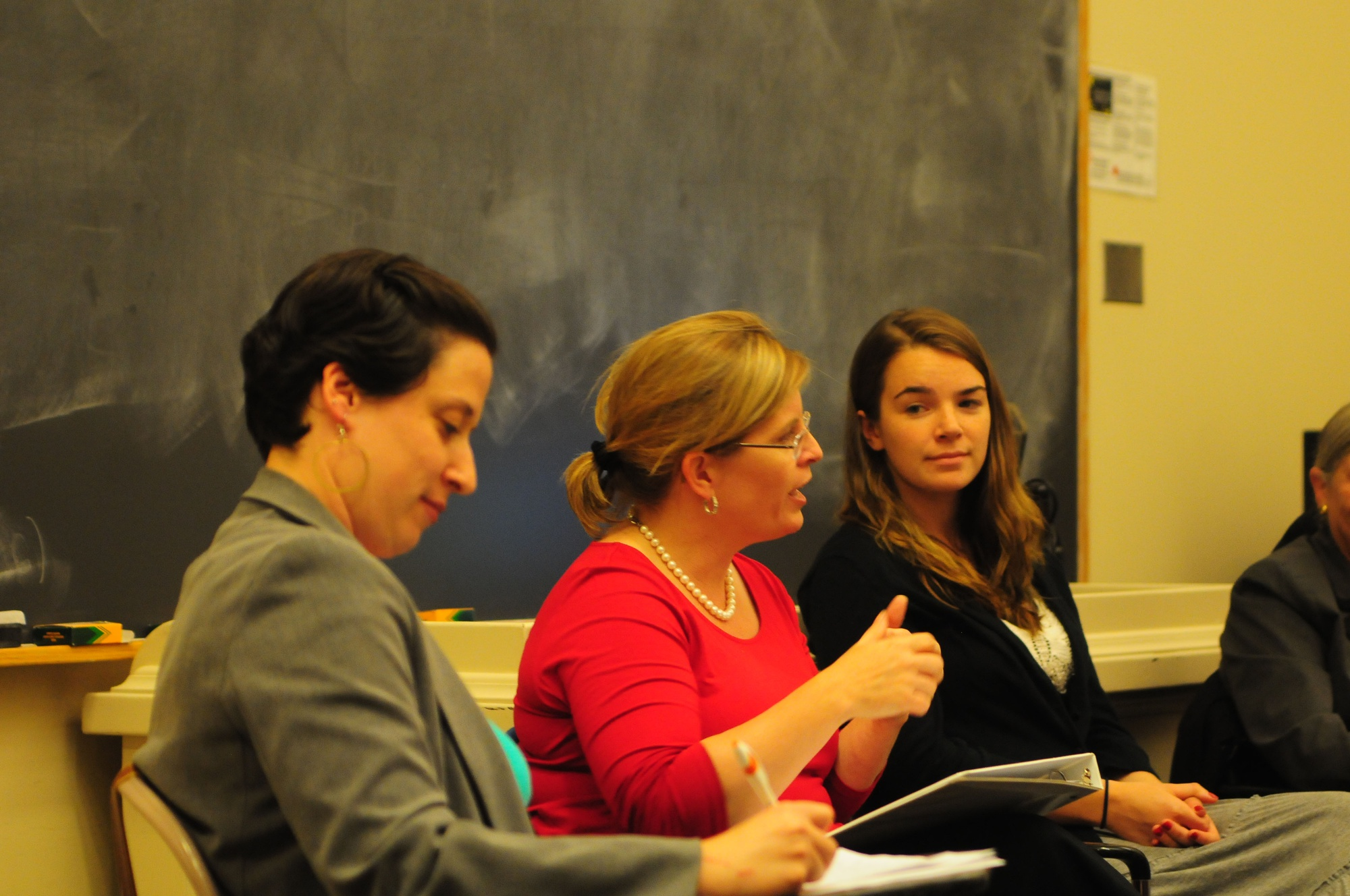 The Harvard Dems and the Women's Center presents a panel discussion featuring Rep. Marjorie Decker, Professor Kay Scholozman, and others about what their experience in the political workplace.