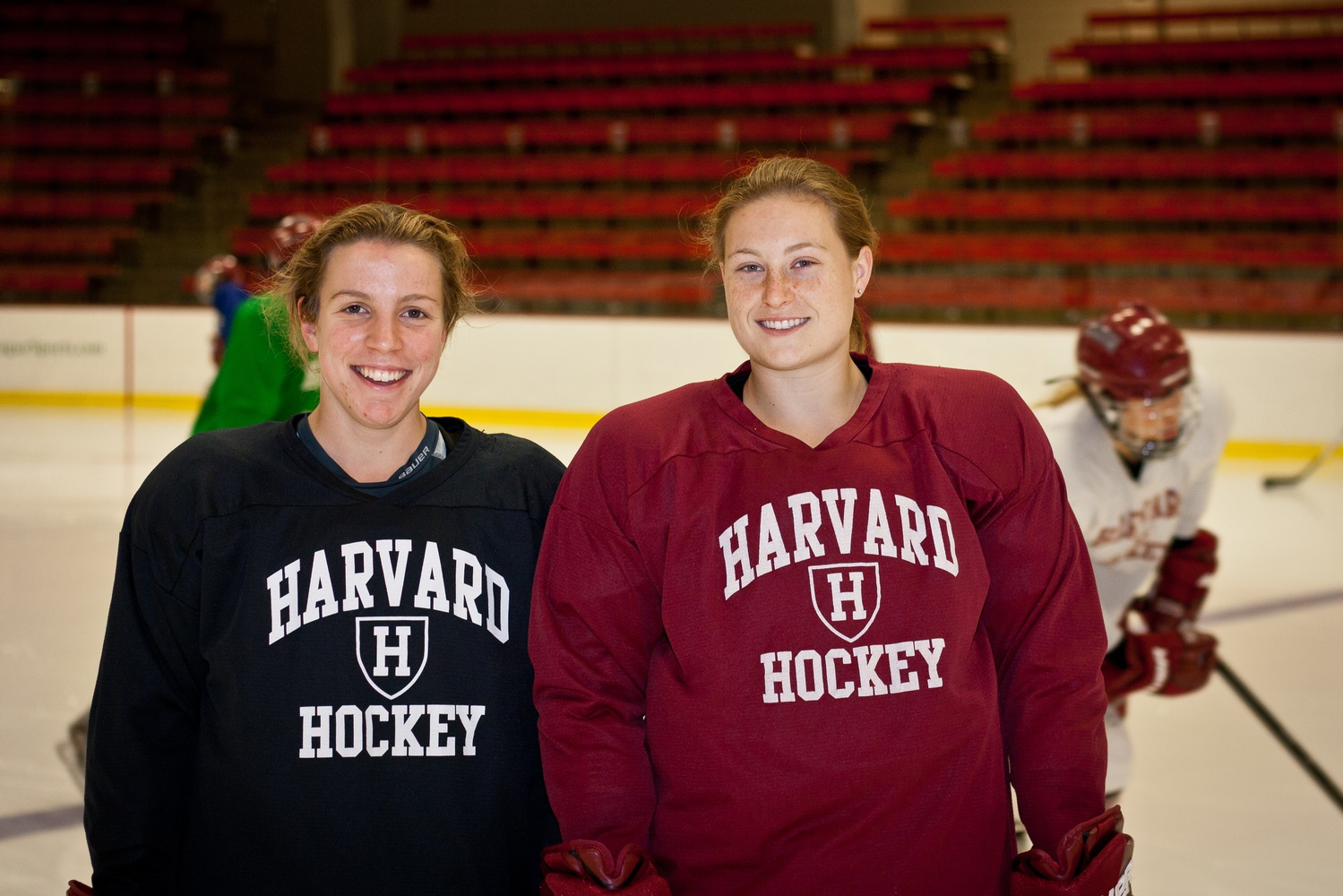From left to right: Michelle L. Picard and Lyndsey B. Fry were named to the USA Women's Olympic Hockey team on Wednesday.