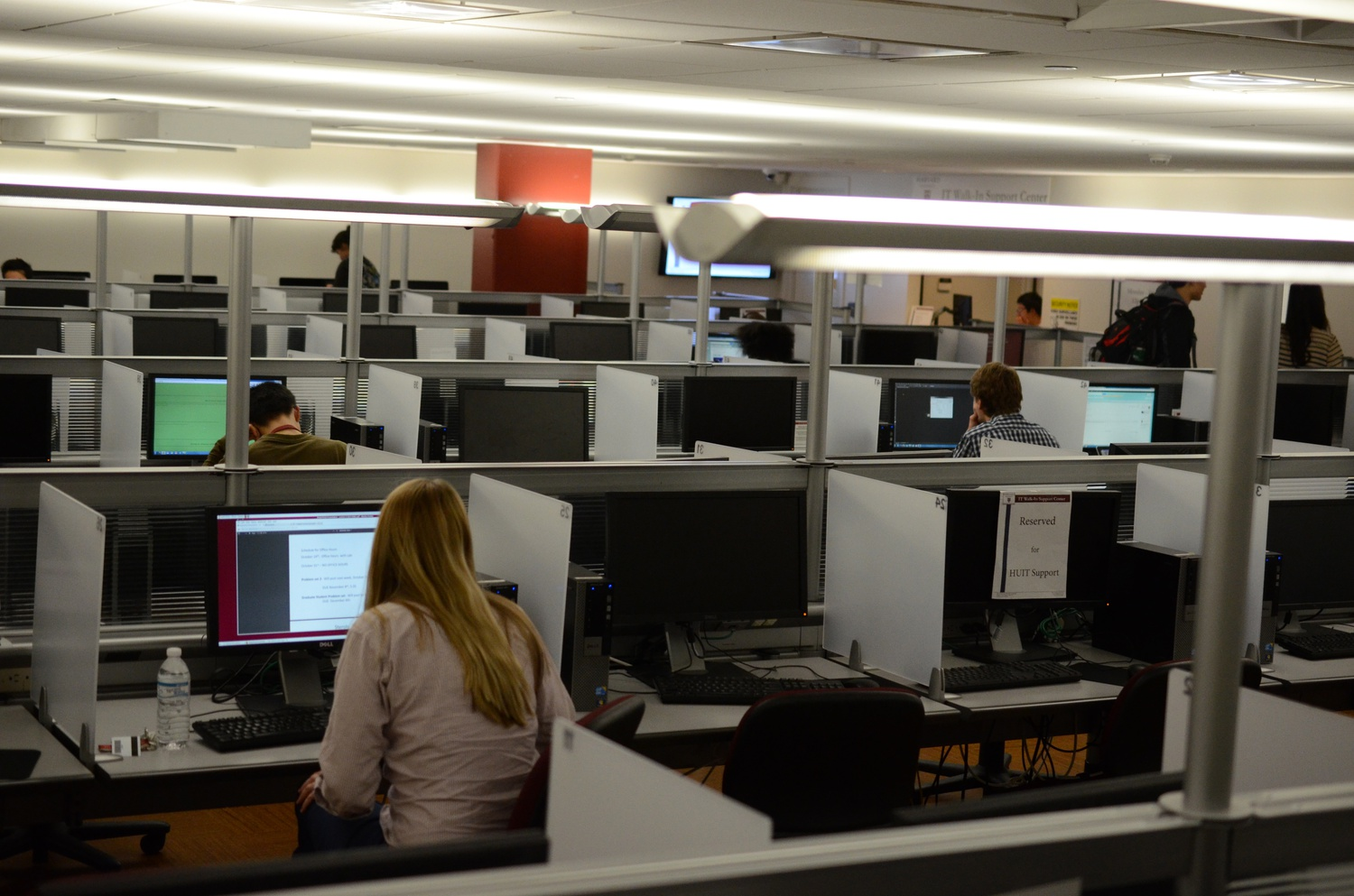 The Science Center computer lab is open to anyone on campus who has an HUID.