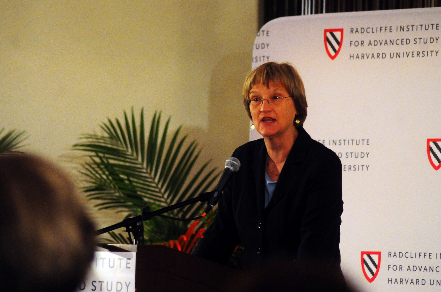 University President Drew G. Faust speaks at the launch of the Radcliffe Campaign on Monday.