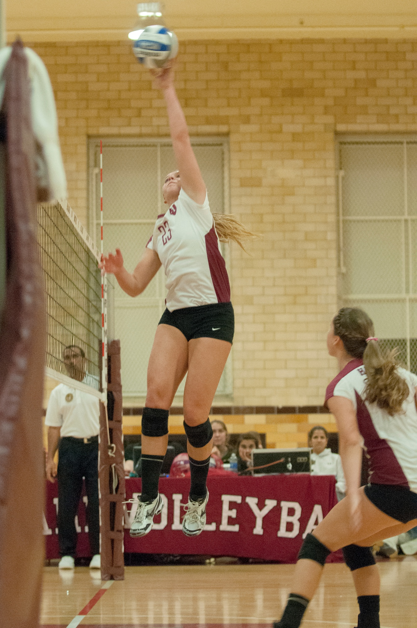 Freshman Corinne Bain put the finishing touches on a stellar rookie  campaign in which she became the first Harvard women's volleyball player to register a triple-double, a feat she accomplished six times.
