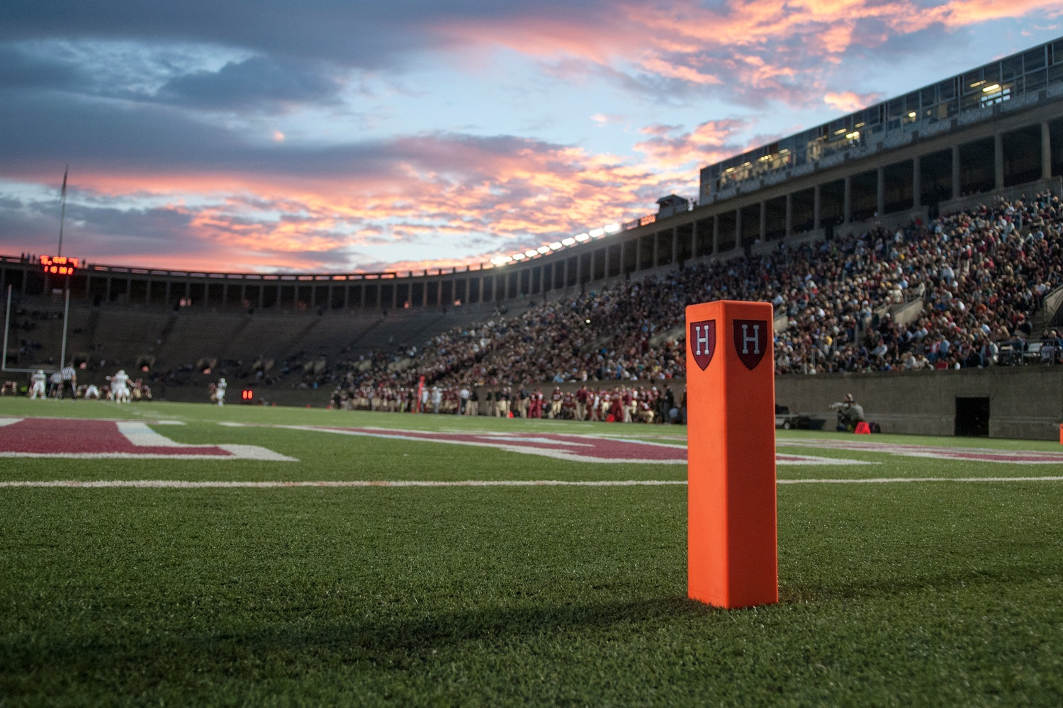 Harvard's football field. The school's athletic department recently debuted a host of new trainings and initiatives for student-athletes.