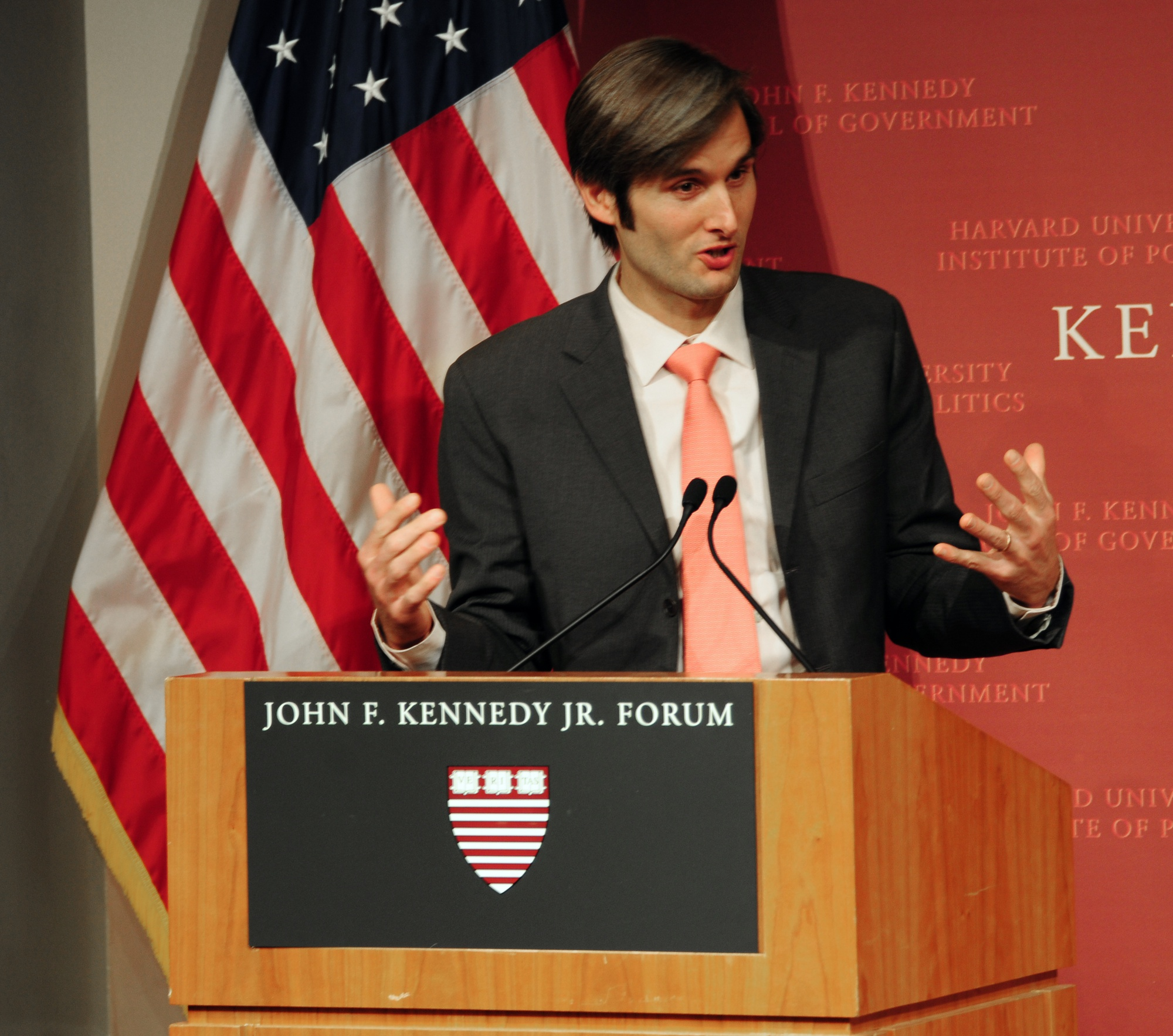 Charles Best, Founder and CEO of DonorsChoose.org, speaks about his inspiration for creating the online charity for public schools at the John F. Kennedy New Frontier Awards Ceremony Monday evening.