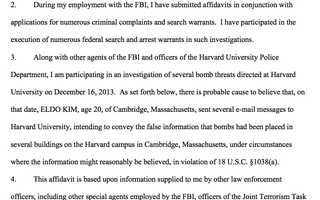 Affidavit of Special Agent Thomas M. Dalton