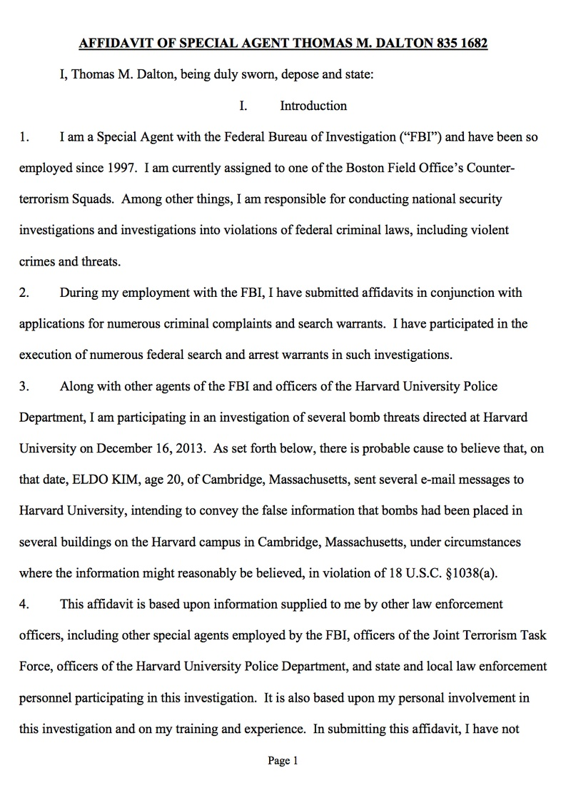 eldo kim will face uphill battle in court dershowitz experts  affidavit of special agent thomas m dalton