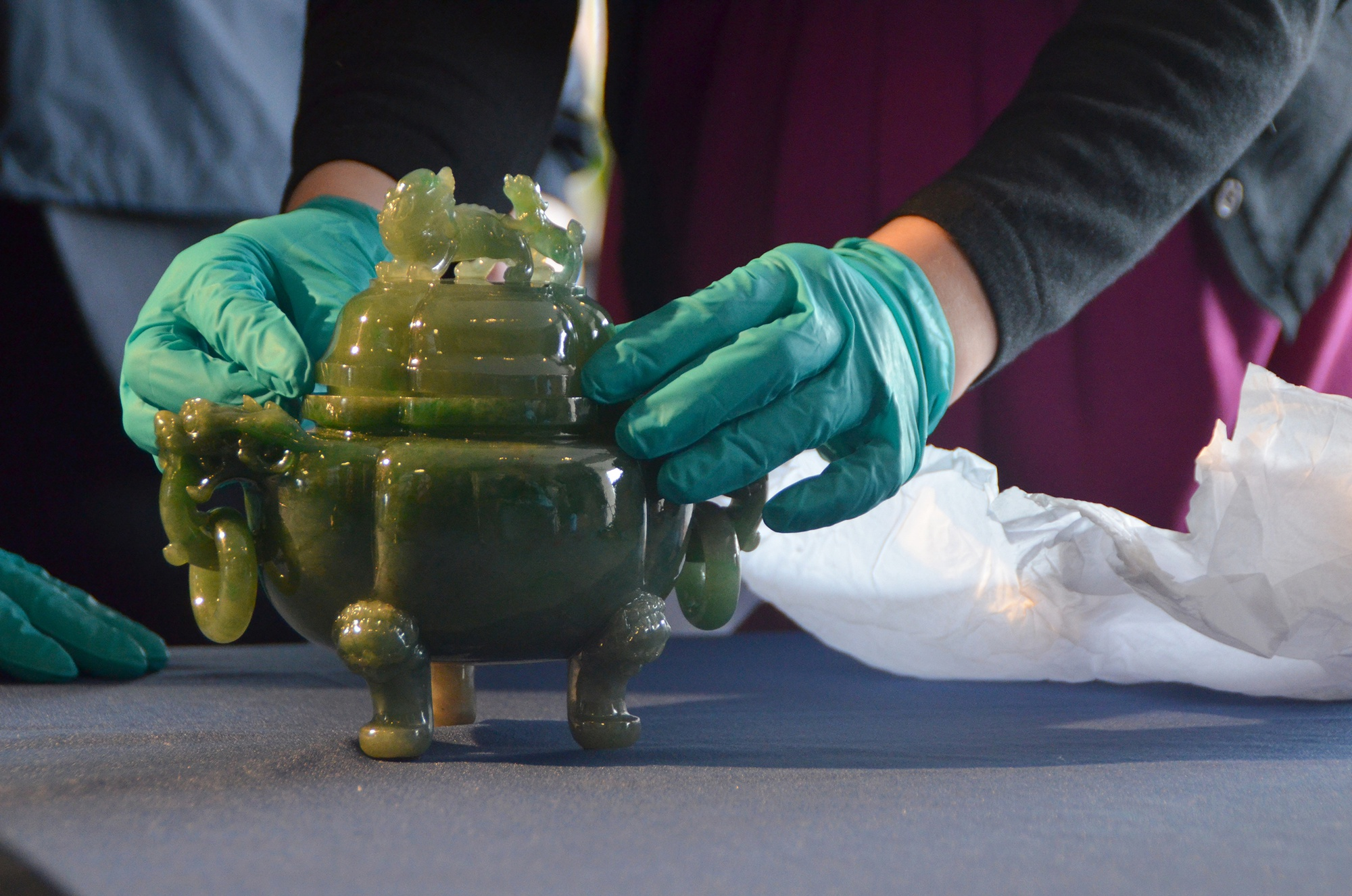 A Qing-dynasty green jade censer, worth an estimated $1.5 million, has been returned to the University after it had been stolen for more than 30 years. The artifact's return was successful joint effort by US and foreign law enforcement.