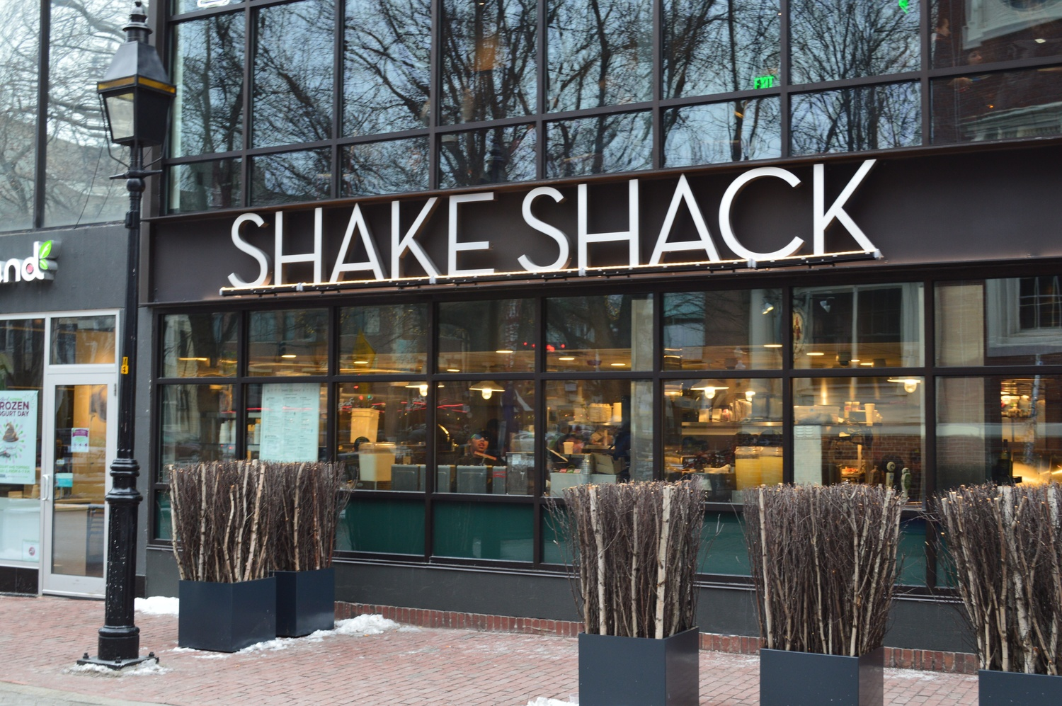 Shake Shack has attracted large numbers of students and locals since it arrived in Winthrop Square earlier in January.