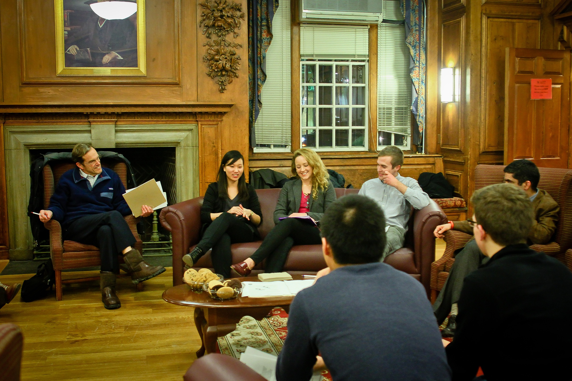 The Academic Integrity Committee came together in Straus Hall's Common Room one last time Tuesday night to give students the opportunity to discuss and provide feedback on the newly drafted Honor Code.