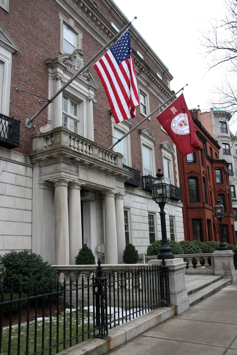 Special events for Harvard alumni are hosted at the Harvard Club of Boston at 374 Commonwealth Avenue.