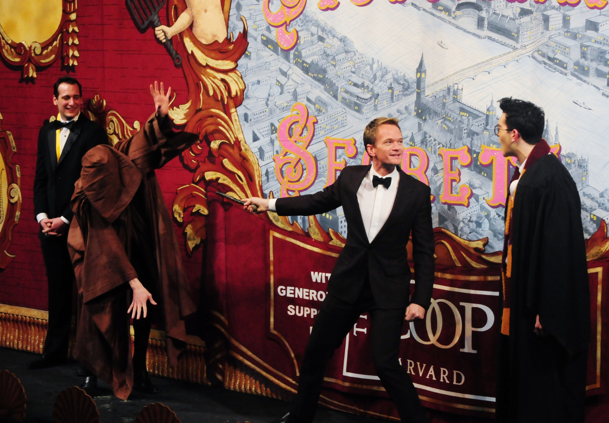 """Hasty Pudding's 2014 Man of the Year, the one and only Neil Patrick Harris, sure earned his award this weekend as he duelled with a dementor in order to secure his """"Pudding Pot."""" And they say people will do crazy things to get recognition from Harvard! We just hope our beloved Harv-warts picks up on this idea and that we can expect to see Transfiguration classes offered next semester..."""