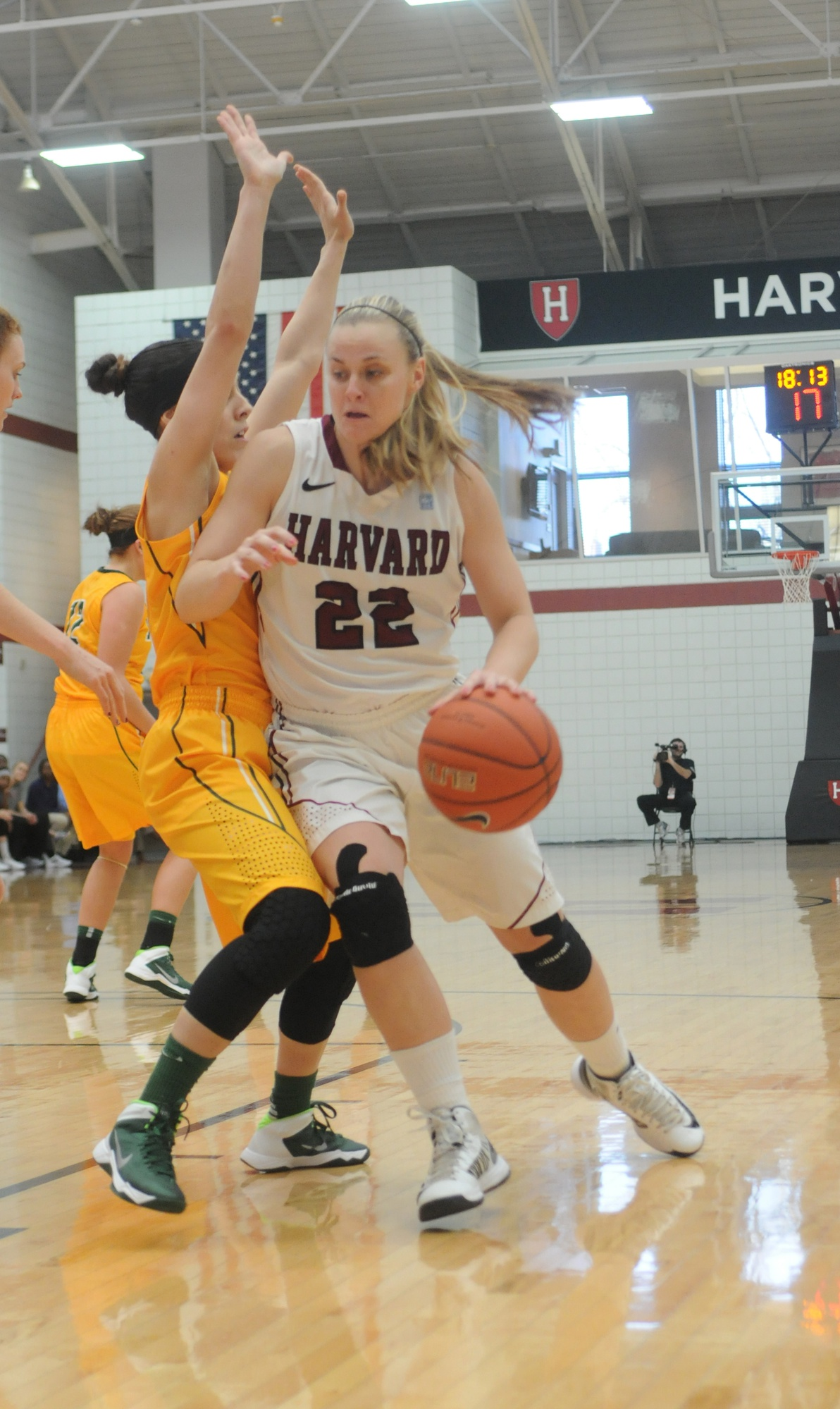 Co-captain Christine Clark led all scorers with 23 points, but couldn't help the team from falling to Princeton, 69-64.