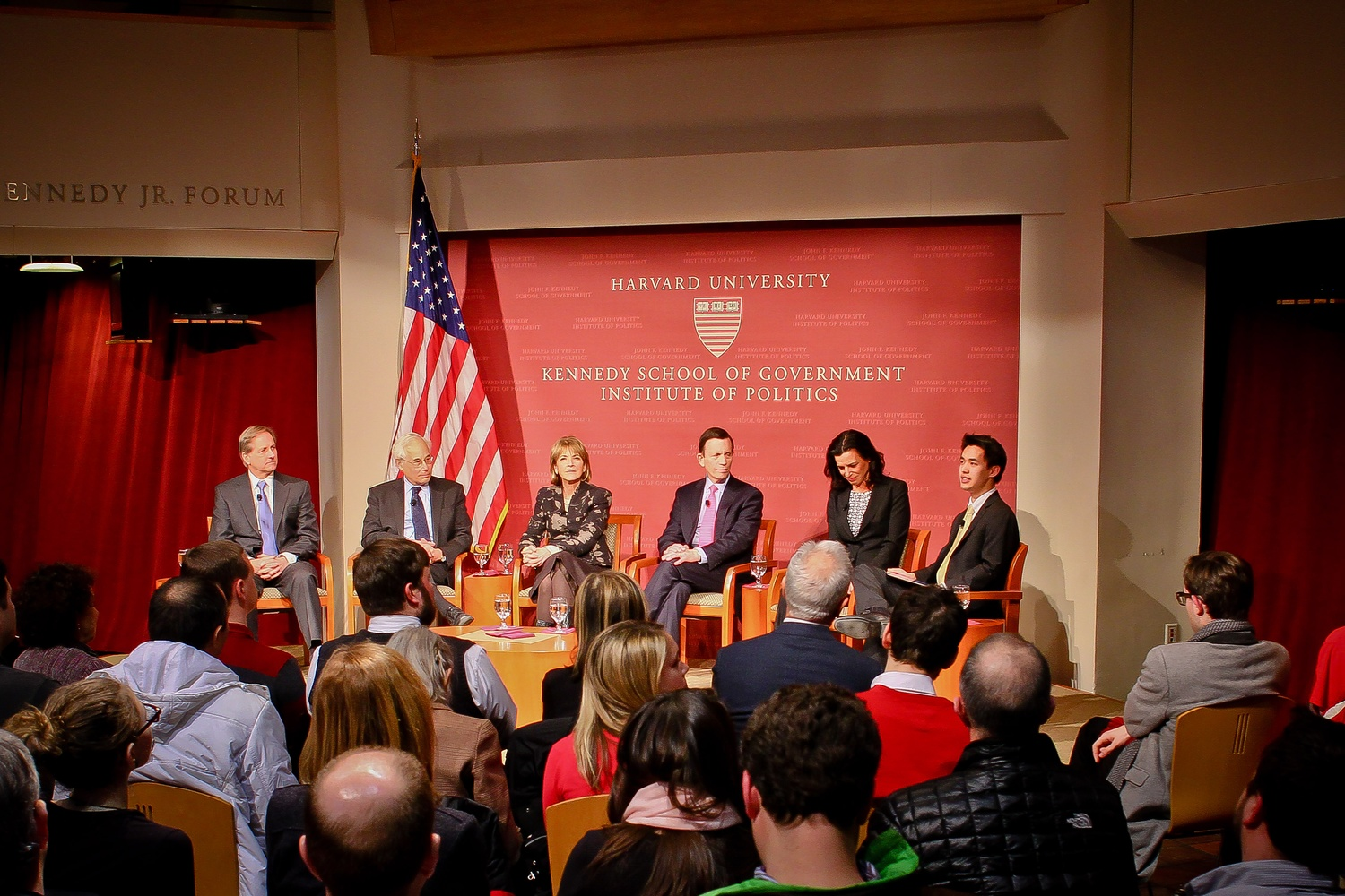 The Democratic candidates for Massachusetts governor met at the Institute of Politics on Tuesday evening for a discussion moderated by Harvard College Democrats President Daniel Ki '15.